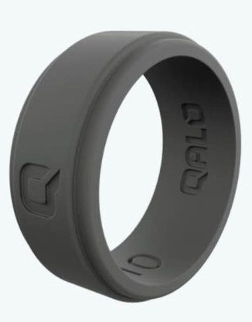 QALO QALO Silicone Step Edge Charcoal Grey Ring (size 12)
