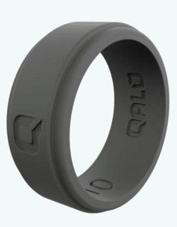 QALO QALO Silicone Step Edge Charcoal Grey Ring (size 8)