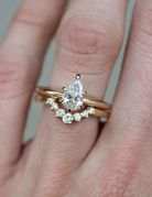 American Jewelry 14k Yellow Gold Pear Diamond (1ct J/SI2 Pear) Solitaire Engagement Ring (Size 7)