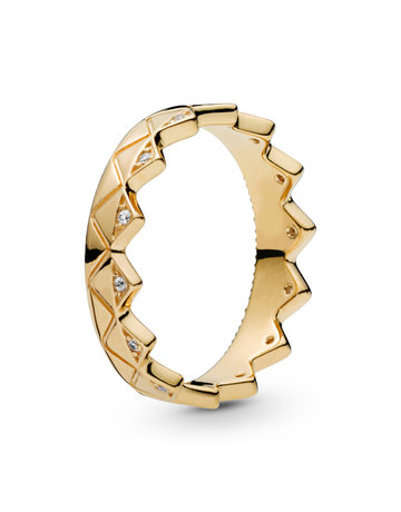 Pandora PANDORA Shine Ring, Exotic Crown, Clear CZ - Size 54
