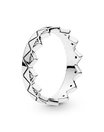 Pandora PANDORA Ring, Exotic Crown, Clear CZ - Size 54