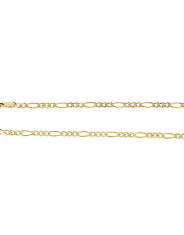 "American Jewelry 14k Yellow Gold 2mm Solid Figaro Chain (20"")"