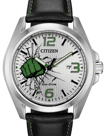 Citizen Citizen Eco-Drive The Hulk Marvel Gents Watch with Black Leather Strap