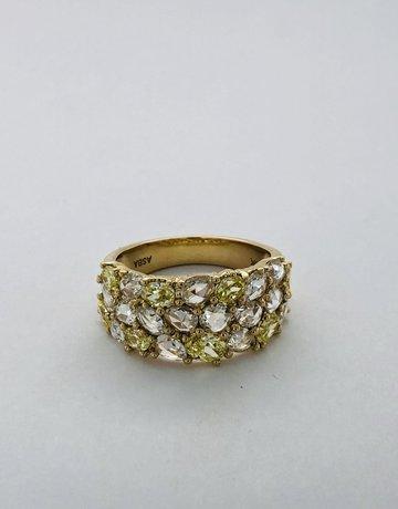 American Jewelry 14k Yellow Gold 1.15ctw White 1.18ctw Yellow VS Diamond Fashion Ring (size 7)