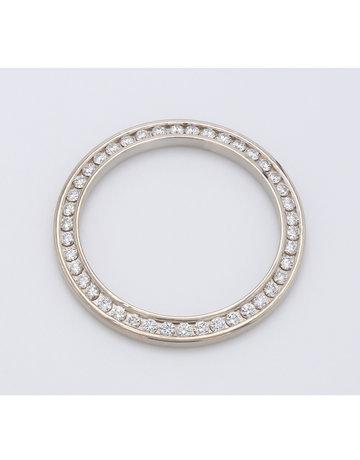 American Jewelry 18k White Gold 1ctw Round Brilliant Diamond Bezel for Ladies Rolex