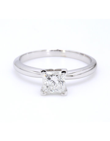 American Jewelry 14k White Gold 1.01ct G/I1 Princess Cut Diamond Solitaire Engagement Ring (Size 7)