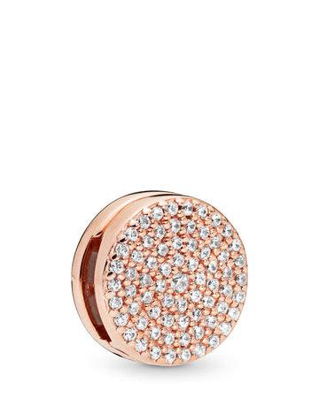 Pandora PANDORA Rose Reflexions Charm, Dazzling Elegance, Clear CZ