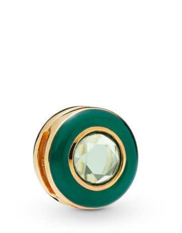 Pandora PANDORA Shine Reflexions Charm, Radiant Green Circle, Green Enamel & Crystal