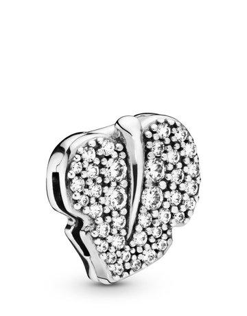 Pandora PANDORA Reflexions Charm, Sparkling Leaf, Clear CZ