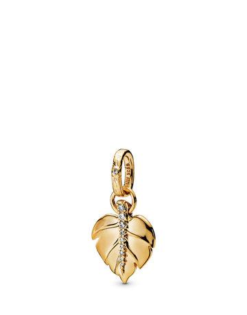 Pandora PANDORA Shine Pendant, Shining Leaf, Clear CZ