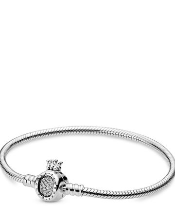 Pandora PANDORA Bracelet, Crown O Clasp, Clear CZ - 18 cm / 7.1 in