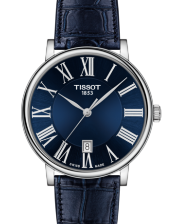 Tissot Tissot T-Classic Carson Premium Gents Watch with Blue Dial & Leather Strap