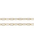 "American Jewelry 14k Yellow Gold 2.6mm Elongated Flat Link Chain (18"")"