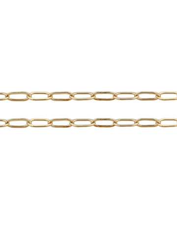"American Jewelry 14k Yellow Gold 2.6mm Elongated Flat Link Chain (18"")"