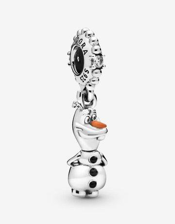 Pandora PANDORA Charm Disney, Frozen Olaf Dangle, Clear CZ