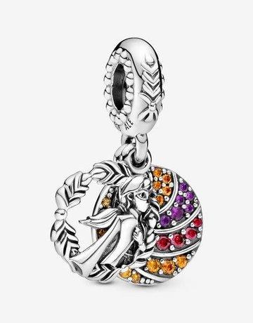 Pandora PANDORA Charm Disney, Frozen Anna, Orange, Red & Purple CZ