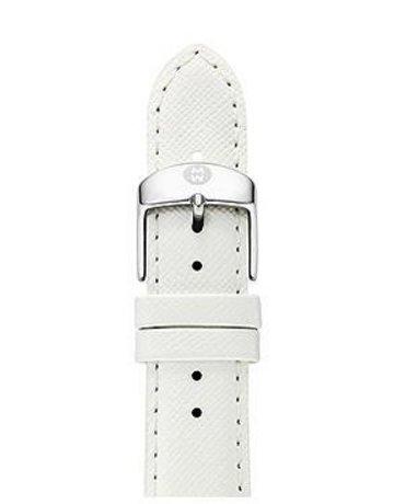 Michele Michele 16 mm Bright White Leather Watch Strap