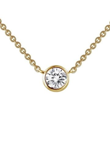 Lafonn Lafonn 0.46cttw 1 Stones Bezel Set Gold Solitaire Necklace 18""