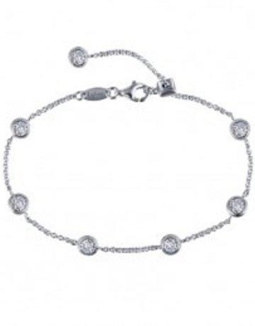 Lafonn Lafonn 1.75cttw 7 Stone Bezel Station Adjustable Bracelet
