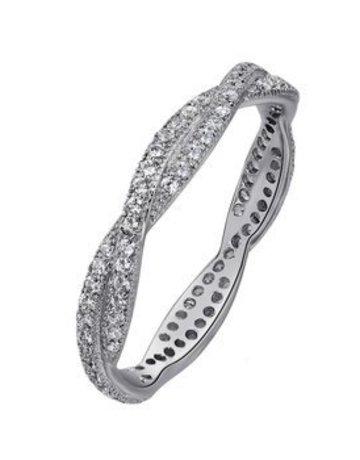 Lafonn Lafonn 0.96cttw 96 Stones Eternity Twisted Band Ring (Size 6)