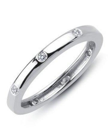Lafonn Lafonn 0.14ctw 7 Stone Flush Set Eternity Band Ring (Size 6)