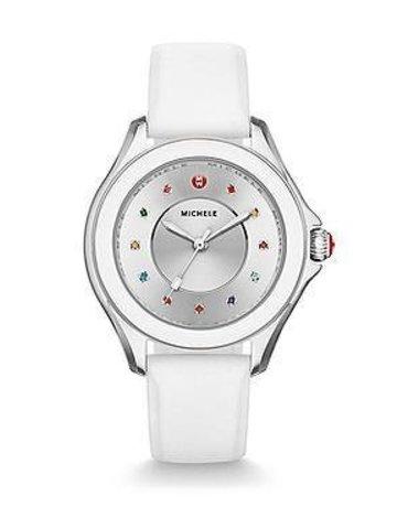 Michele Michele Cape Chrono White Watch