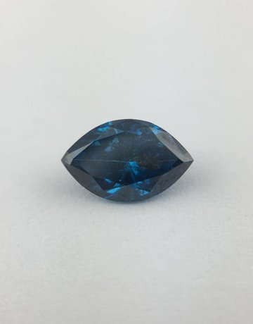 American Jewelry 0.53ct Blue Irradiated Marquise Cut Diamond