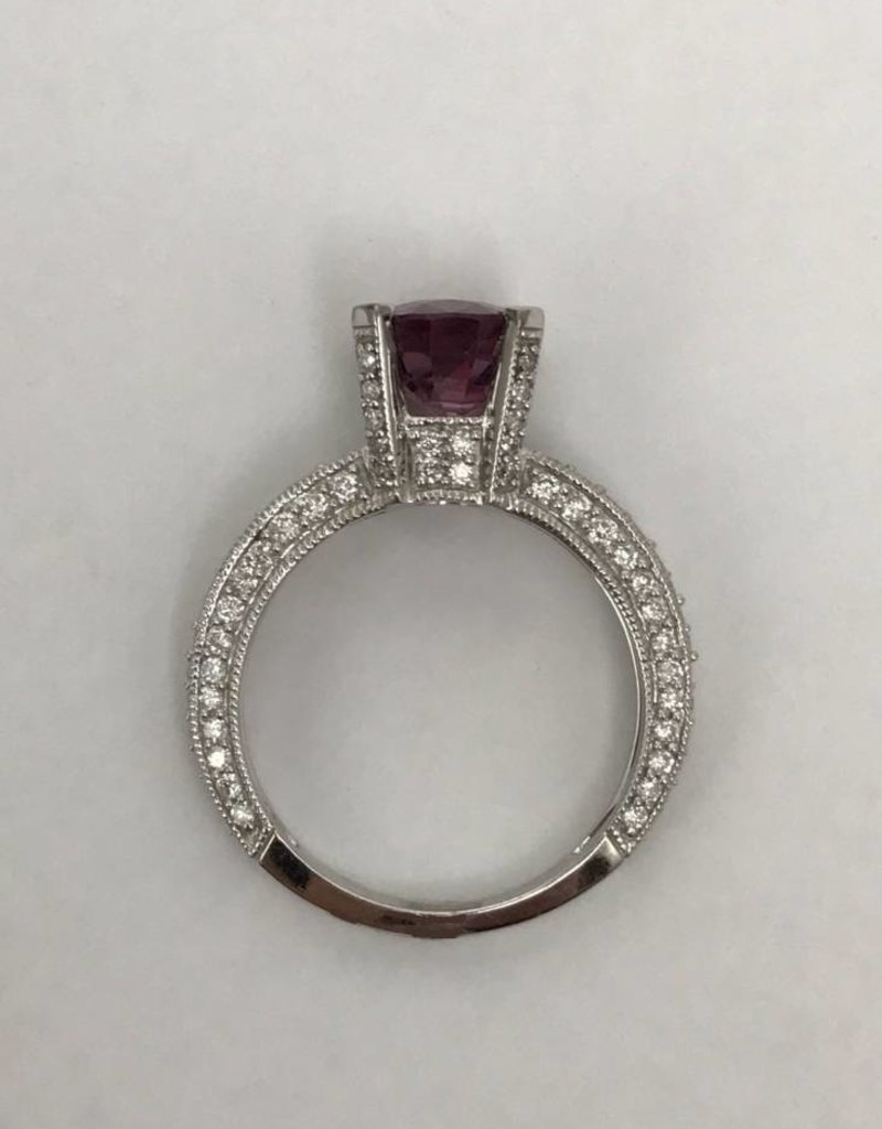 14K White Gold 2.38ct Pink Spinel & .88ctw Diamond Ladies ...