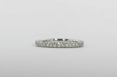 PLAT .37CTW TACORI STACKABLE WEDDING BAND WITH ROUND BRILLIANTS