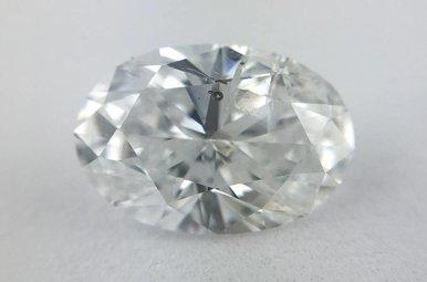 1.24ct D/I1 Oval Cut Diamond