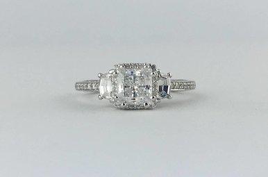 Tacori Platinum .63ctw Diamond Semi Mount (CZ Center) Engagement Ring