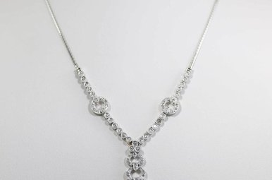14KW 2.25CTW ROUND BRILLIANT DIAMOND NECKLACE