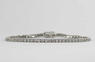 14KW 1.34CTW LADIES BRACELET WITH ROUND BRILLIANT DIAMONDS