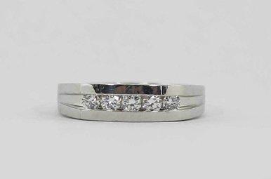 PLAT 1/2CTW SI1 G-H GENTS CHANNEL SET DIAMOND WEDDING BAND