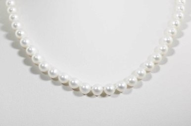 """14KW 16"""" 6.5-7MM FRESHWATER PEARL STRAND NECKLACE"""