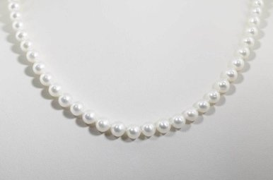 """14KW 18"""" 6.5-7MM FRESHWATER PEARL STRAND NECKLACE"""