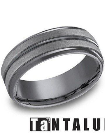 American Jewelry Tantalum 8mm Gents Benchmark Wedding Band (Size 10)