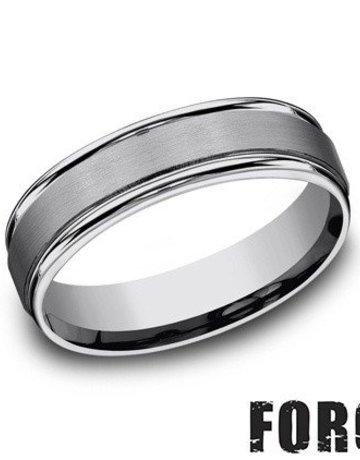 American Jewelry Tungsten 6mm Gents Benchmark Wedding Band (Size 11)