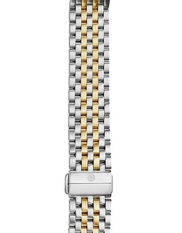 Michele Michele 18mm Deco 7-Link 18K T-Tone Watch Band