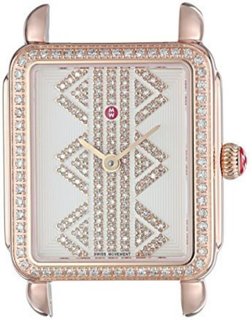 Michele Michele Deco II Mid Rose Gold Dia Dial Ladies Watch