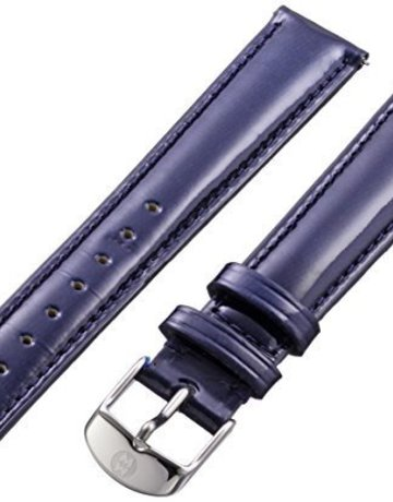 Michele Michele 16mm Navy Patent Leather Strap