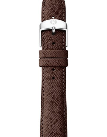 Michele Michele 18mm Saffiano Leather Watch Band