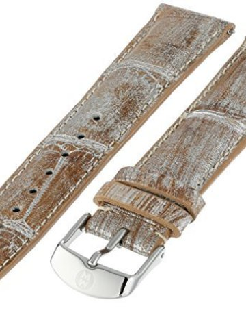 Michele Michele 18mm Gold Metallic Alligator Leather Band