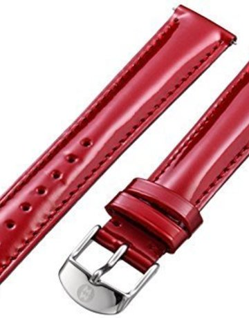 Michele Michele 16mm Scarlet Patent Leather Watch Band