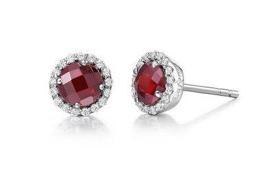 Lafonn Garnet Birthstone Earrings