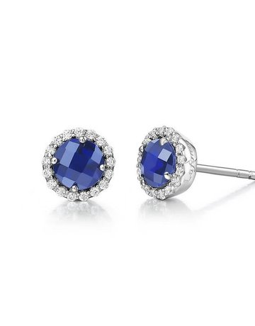 Lafonn Lafonn September Birthstone Earrings, Lab Sapphire & Simulated Diamonds 1.26ctw, Sterling Silver