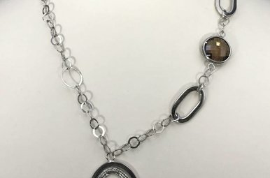 Sterling Silver Large Link Ladies Necklace