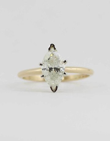American Jewelry 14KY 1.57CT F/I2 MARQUISE DIAMOND SOLITAIRE ENGAGEMENT RING