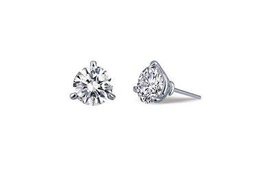 Lafonn .92ctw Sim Diamond Stud Earrings