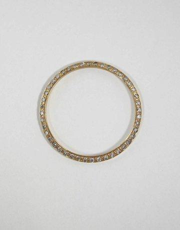 American Jewelry 18KY 1CTW BEZEL FOR GENTS ROLEX WITH BEAD SET ROUND BRILLIANT DIAMONDS